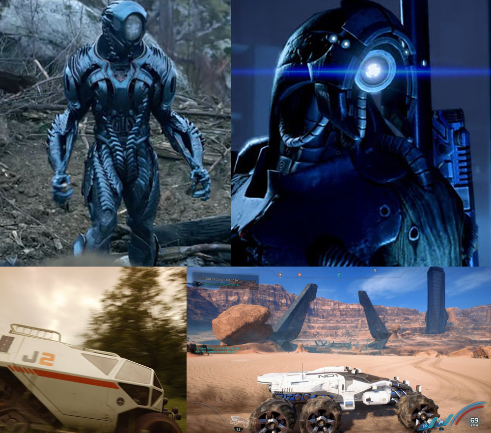 comparacion entre mass effect y lost in space